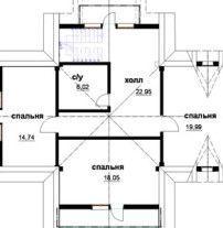 Дом из оцилиндрованного бревна ОБ-78
