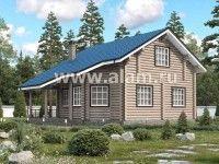 Дом из оцилиндрованного бревна ОБ-30