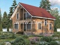 Дом из оцилиндрованного бревна ОБ-73