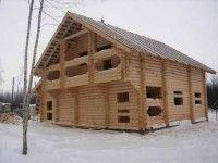 Деревянный дом с балконом навесным ОБ-53