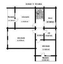 Дом из профилированного бруса ПБ-47