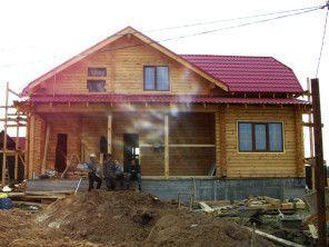 Дом из простого бруса