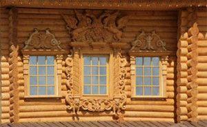 Декор деревянного дома