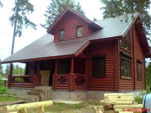 Дом из оцилиндрованного бревна ОБ-55