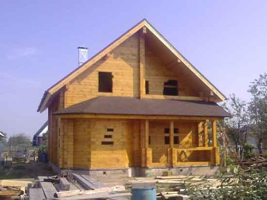 Дом из профилированного бруса ПБ-25