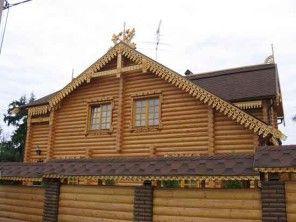 Дом из оцилиндрованного бревна ОБ-17