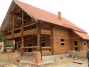 Дом из оцилиндрованного бревна ОБ-21