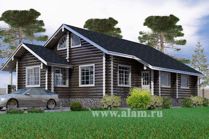 Загородный дом для дачи с мансардным этажом  ОБ-16
