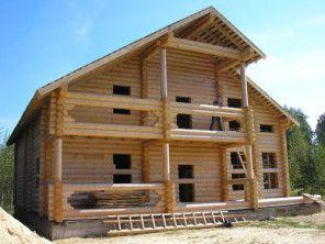 Дом из оцилиндрованного бревна  ОБ-67