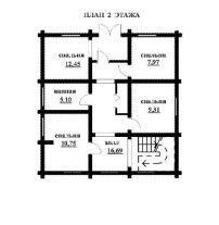 Дом из оцилиндрованного бревна ОБ-68