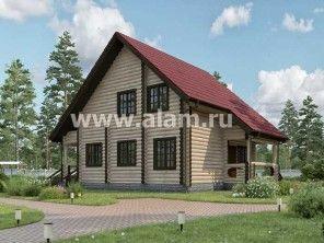 Дом из оцилиндрованного бревна ОБ-8