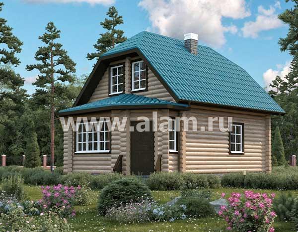 Дом из оцилиндрованного бревна ОБ-1
