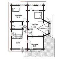 Дом из оцилиндрованного бревна ОБ-63