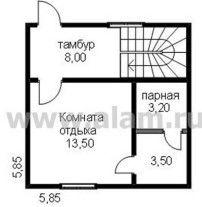 Дом из профилированного бруса ПБ-92