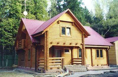 Дом из оцилиндрованного бревна ОБ-10