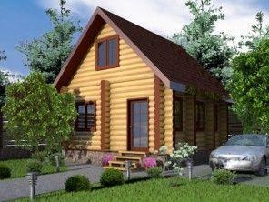 Дом из оцилиндрованного бревна ОБ-12