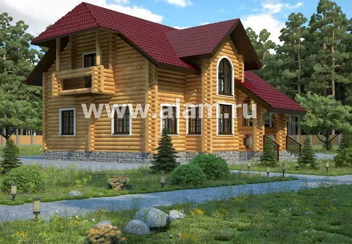 Дом из оцилиндрованного бревна ОБ-20