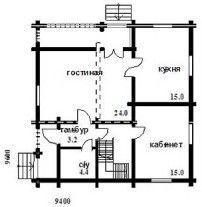 Небольшой загородный домик ОБ-26