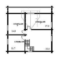 Дом из оцилиндрованного бревна ОБ-26