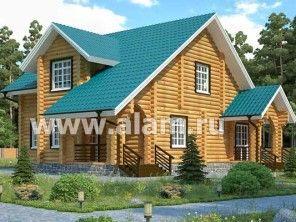Дом из оцилиндрованного бревна ОБ-28