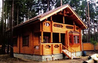 Дом из оцилиндрованного бревна ОБ-3