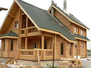 Дом из оцилиндрованного бревна ОБ-33