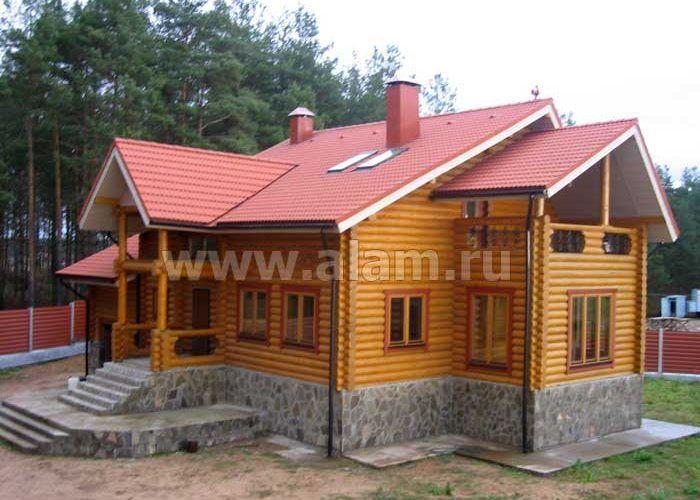 Дом из оцилиндрованного бревна ОБ-34