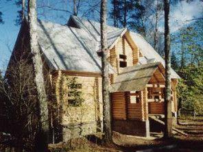Дом из оцилиндрованного бревна ОБ-4