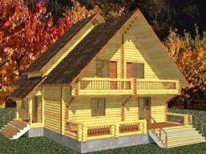 Дом из оцилиндрованного бревна ОБ-56