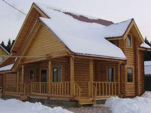 Дом из оцилиндрованного бревна ОБ-44