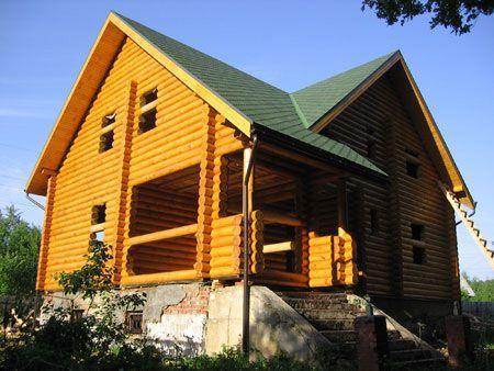 Дом из оцилиндрованного бревна ОБ-46