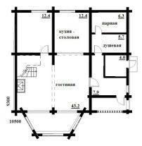 Дом из оцилиндрованного бревна ОБ-47