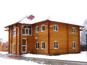Дом из оцилиндрованного бревна ОБ-49