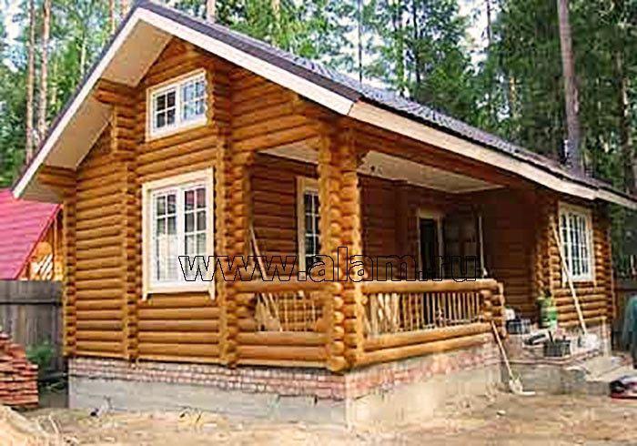 Дом из оцилиндрованного бревна ОБ-54