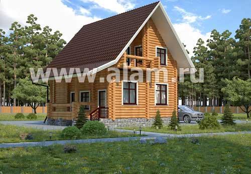 Дом из оцилиндрованного бревна ОБ-7