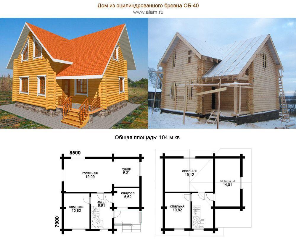 сколько метров построить дом