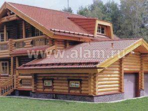 Дом из оцилиндрованного бревна ОБ-41