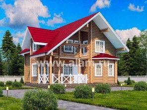 Дом из оцилиндрованного бревна ОБ-71