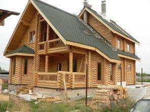 Дом из оцилиндрованного бревна Ф240