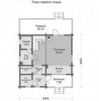 Дом из профилированного бруса ПБ-2