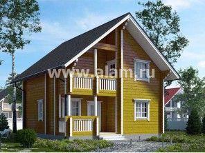 Брусовой деревянный дом ПБ-68