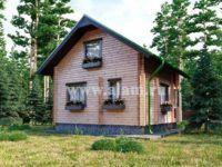 Дом из профилированного бруса ПБ-78