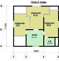 Дом из профилированного бруса ПБ-9
