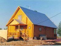 Дом из оцилиндрованного бревна ОБ-58
