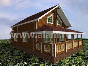 Дом из профилированного бруса ПБ-40