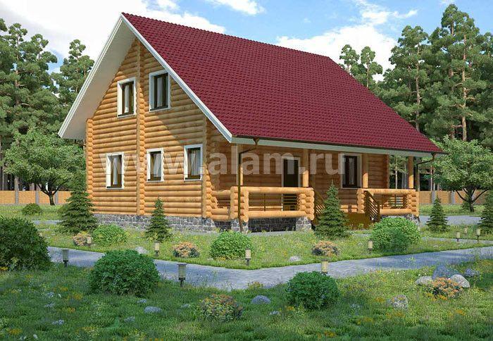 Дом из оцилиндрованного бревна ОБ-39