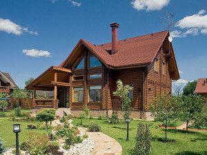 Просторный дом из оцилиндрованного бревна ОБ-57