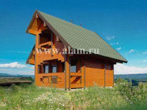 Двухуровневый дом-дача из бруса ПБ-62