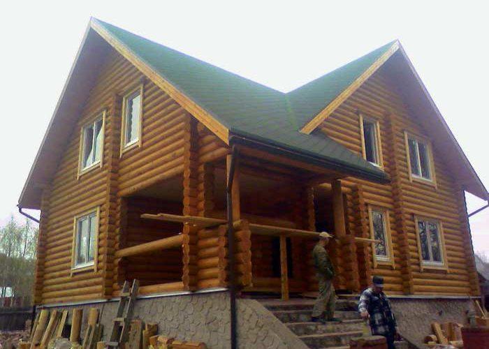 Загородный дом из бревна ОБ-46