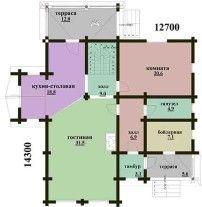 Дом из оцилиндрованного бревна ОБ-95